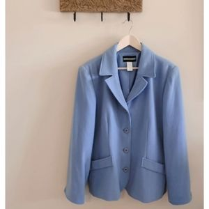 Robin Egg Blue Lined Blazer by Requirements